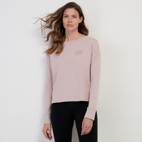 Roots-Women New Arrivals-Organic Off Shoulder Top-Burnished Lilac-A