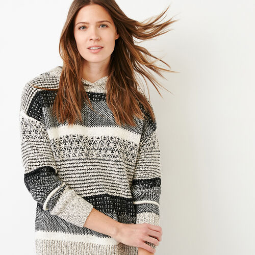 Roots-Women Sweaters   Cardigans-Ingram Hoody Sweater-Black Mix-A 05a7cab34