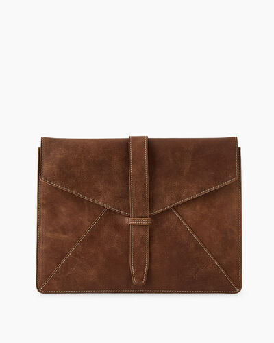 Roots-Leather Tech & Travel-Document Sleeve Tribe-Natural-A