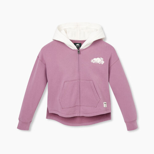 Roots-Kids New Arrivals-Girls Remix Full Zip Hoody-Valerian-A