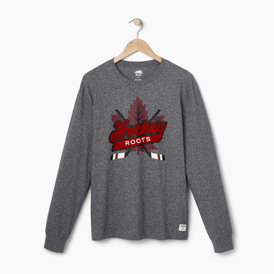 Roots-undefined-Mens Hockey Icon Long Sleeve T-shirt-undefined-A