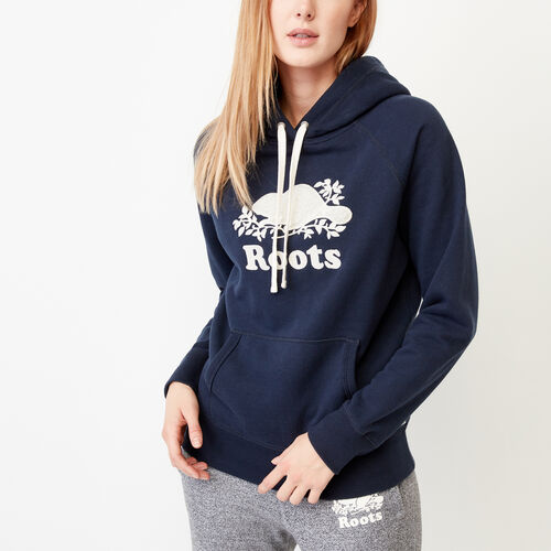 Roots-Women Our Favourite New Arrivals-Sherpa Applique Hoody-Navy Blazer-A
