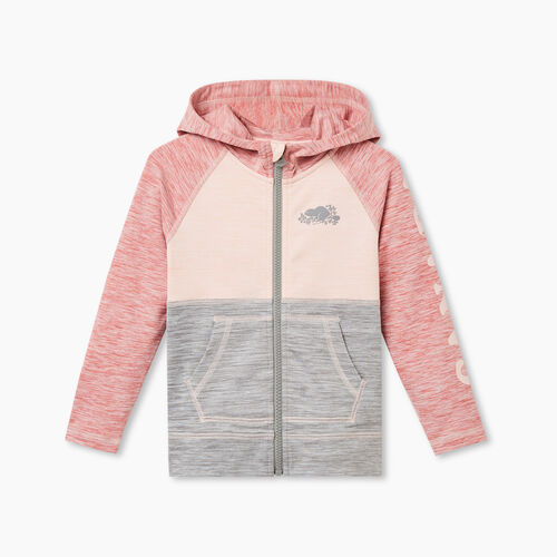 Roots-Kids Tops-Toddler Lola Active Full Zip Hoody-Sunset Apricot Mix-A