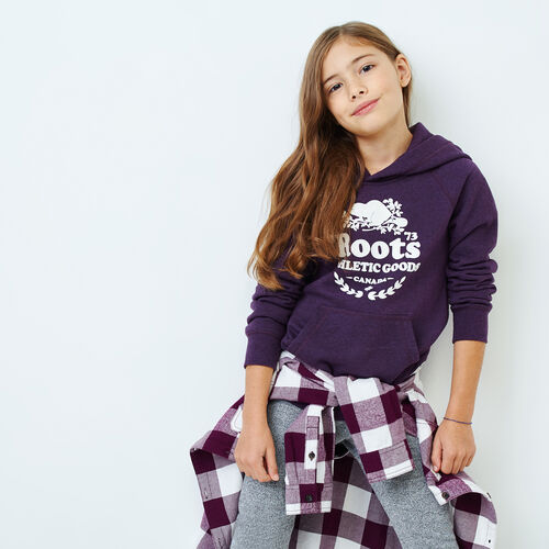 Roots-New For November Kids-Girls Laurel Hoody-Blackberry Mix-A