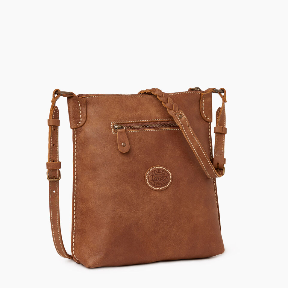 Roots-Leather  Handcrafted By Us Our Favourite New Arrivals-The Hippy Bag-Natural-C
