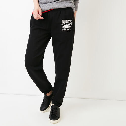 Roots-Women Bestsellers-Classic Boyfriend Sweatpant-Black-A