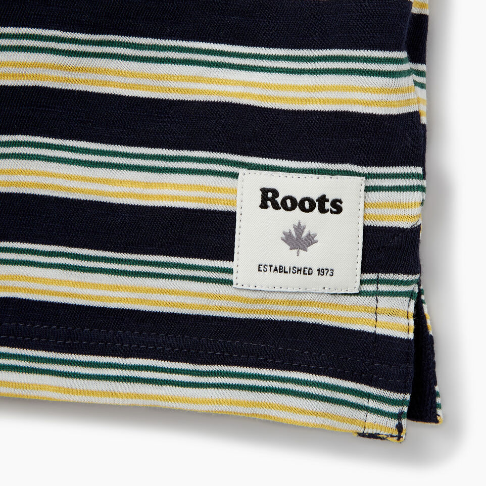 Roots-Kids Our Favourite New Arrivals-Boys Cooper Stripe T-shirt-Navy Blazer-C