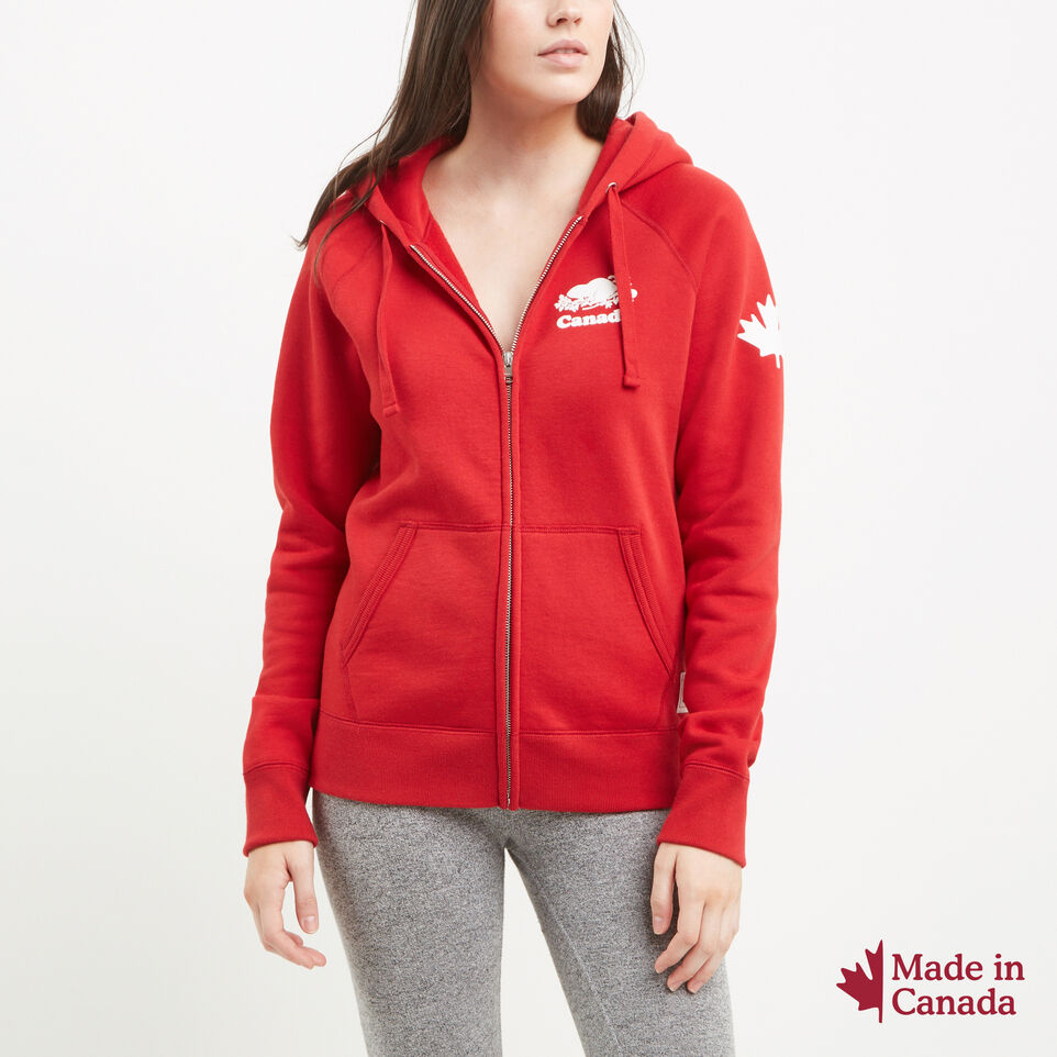Roots-undefined-Womens Cooper Canada Full Zip Hoody-undefined-A