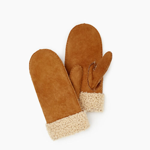 Roots-Leather  Handcrafted By Us Our Favourite New Arrivals-Womens Shearling Mitt-Tan-A
