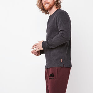 Roots-Sale Tops-New Killarney Pepper Henley-Black Pepper-A