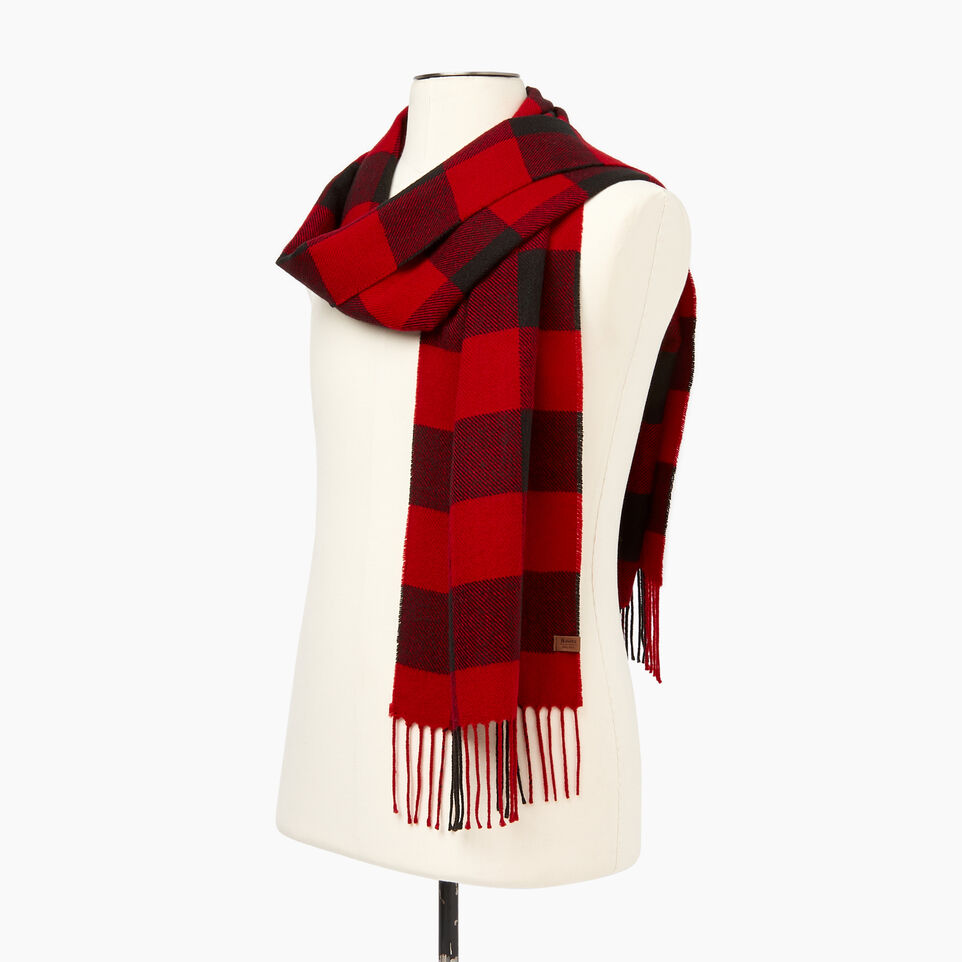 Roots-New For December Today Only: 40% Off Park Plaid Collection-Roots Park Plaid Scarf-Cabin Red-C