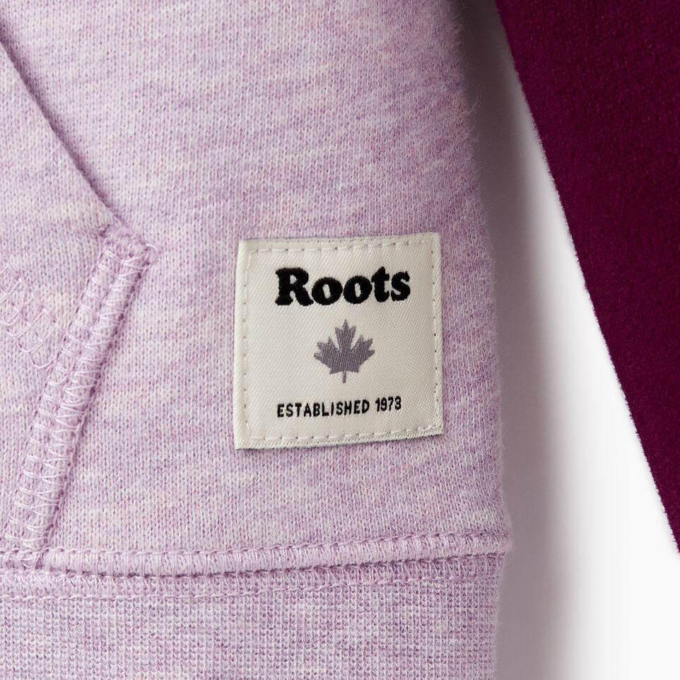 Roots-Kids New Arrivals-Girls Original Full Zip Hoody-Lupine Mix-D