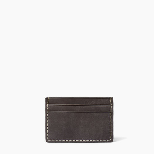 Roots-Men Wallets-Card Holder-Charcoal-A