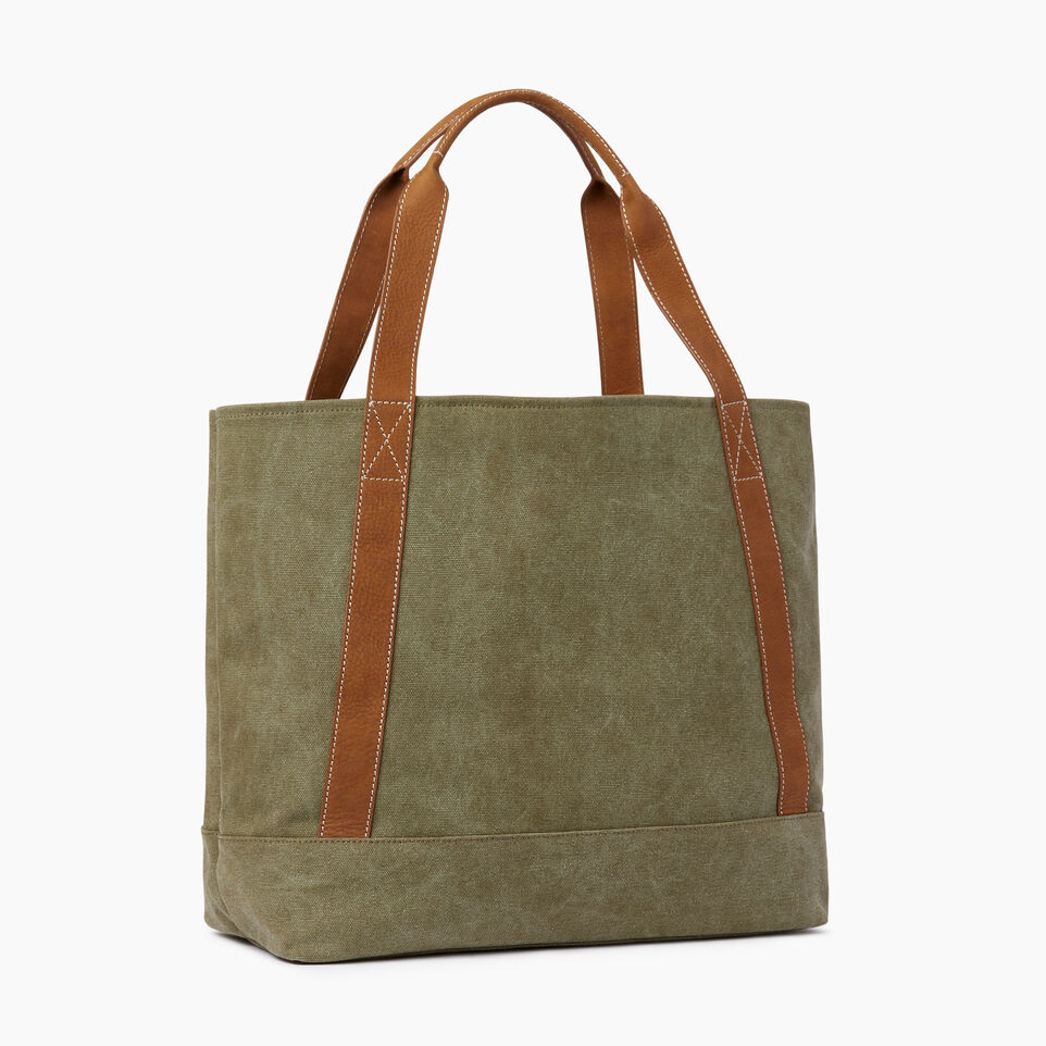 Roots-Women Our Favourite New Arrivals-Muskoka Tote Canvas-Khaki-C