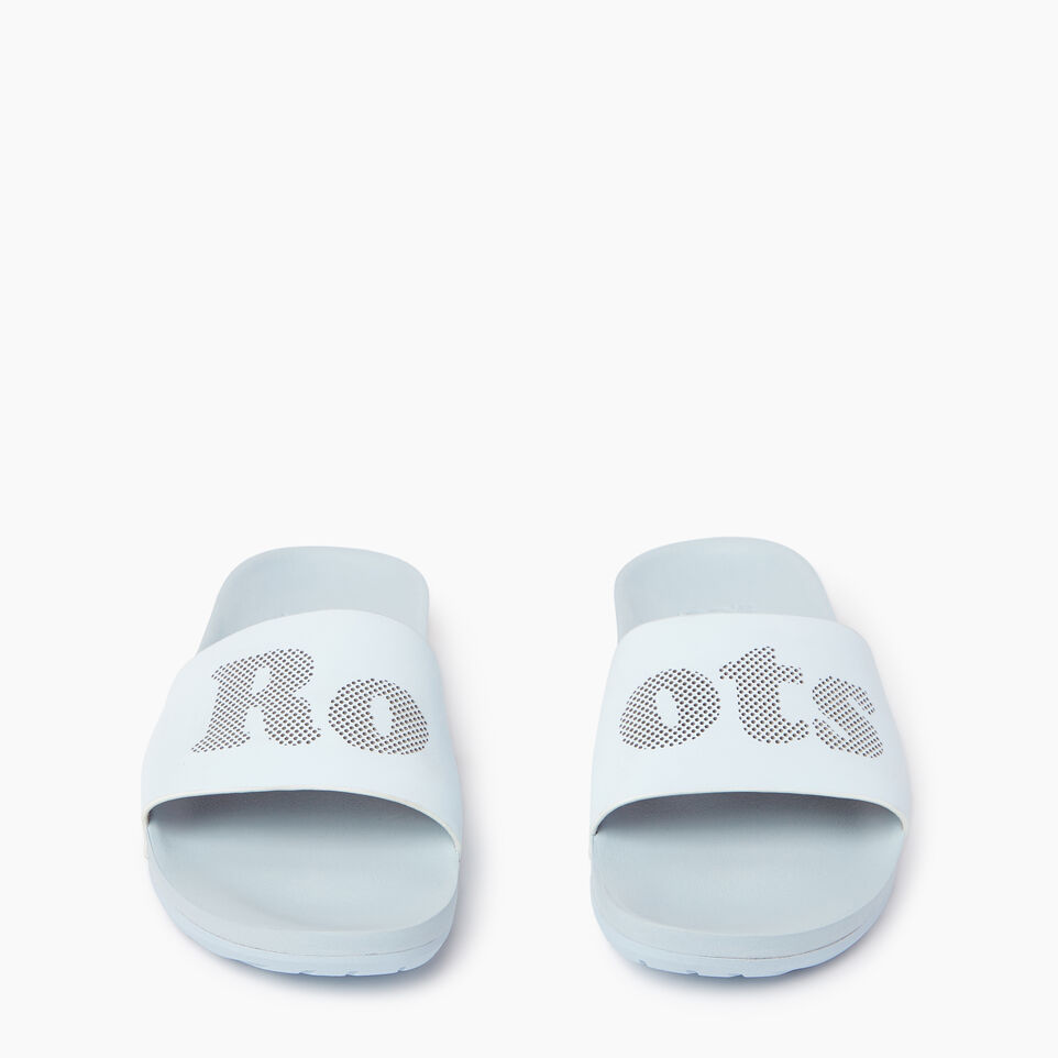 Roots-Footwear Our Favourite New Arrivals-Womens Long Beach Pool Slide-Baby Blue-D