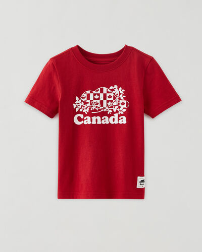 Roots-Kids Toddler Boys-Toddler Cooper Canada Flag T-shirt-Sage Red-A
