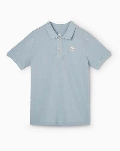 Roots-Kids Tops-Boys Heritage Pique Polo-Celestial Blue-A
