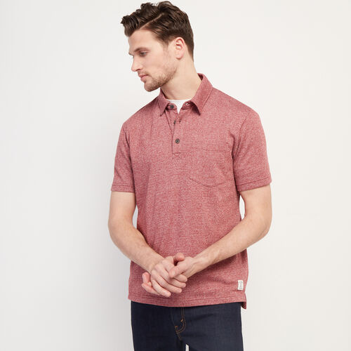 Roots-Men Clothing-Jersey Peppered Polo-Rosewood Pepper-A