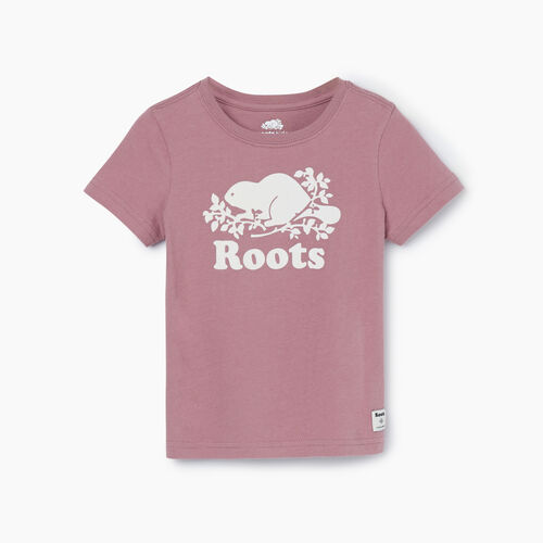 Roots-Kids T-shirts-Toddler Original Cooper Beaver T-shirt-Wistful Mauve-A
