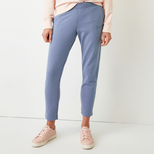 Roots-Women Slim Sweatpants-Weymouth Sweatpant-Stone Blue-A
