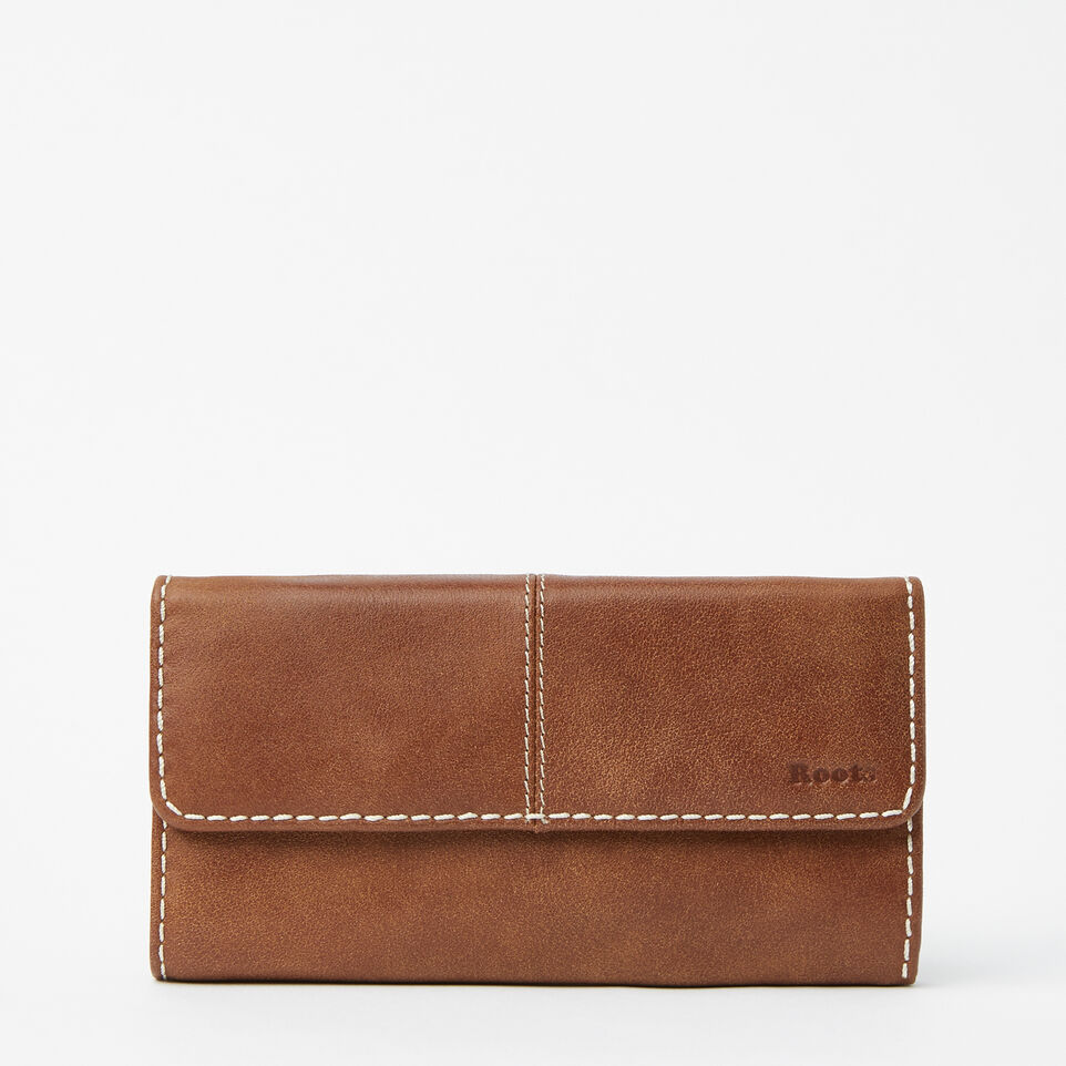 Roots-Medium Trifold Clutch Tribe