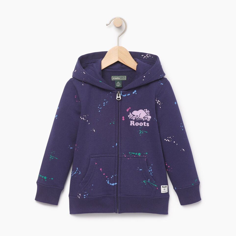 Roots-Kids Our Favourite New Arrivals-Toddler Splatter Full Zip Hoody-Eclipse-A