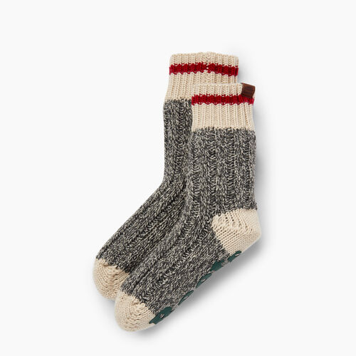 Roots-Gifts Lounge-Kids Cabin Lounge Sock-Grey Oat Mix-A