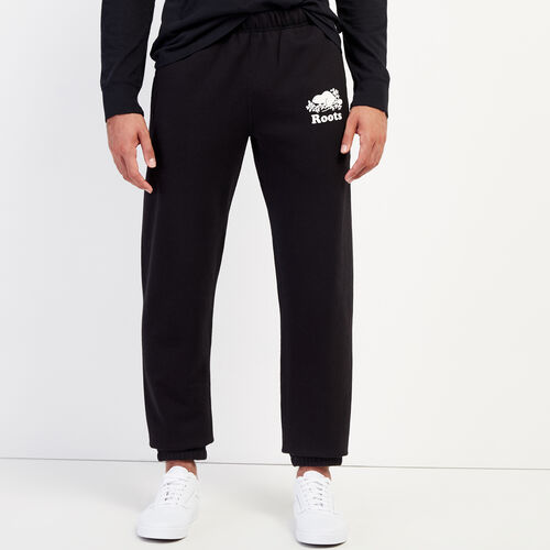 Roots-Men Bottoms-Original Sweatpant-Black-A