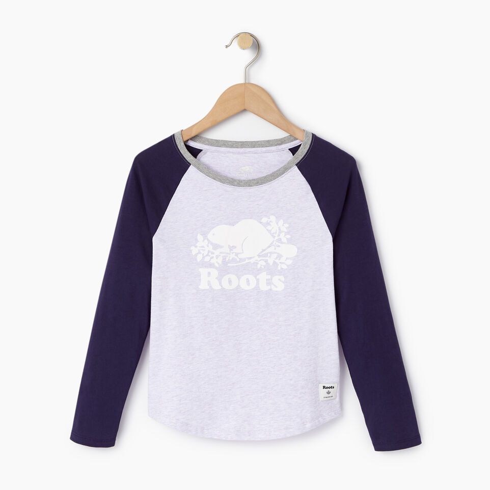 Roots-undefined-Girls Cooper Beaver Raglan T-shirt-undefined-A