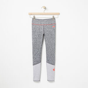 Roots-Kids Bottoms-Girls Roots Active Colourblocked Legging-Charcoal Mix-A