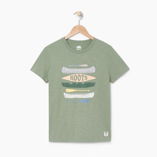 Roots-Women Our Favourite New Arrivals-Womens Roots Paddle T-shirt-Lily Pad-A