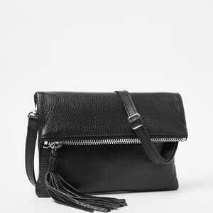 Roots-Leather Mini Leather Handbags-Anna Clutch Prince-Black-A