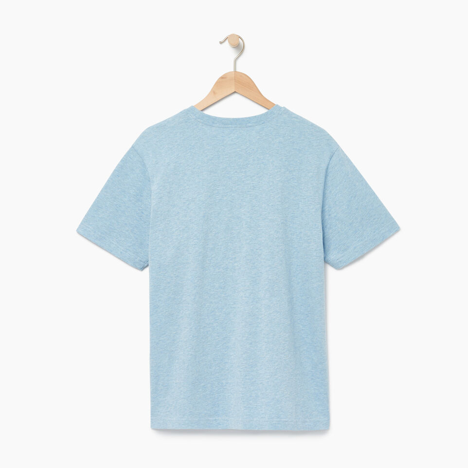 Roots-New For August Men-Mens Roots Peak T-shirt-Baby Blue Pepper-B