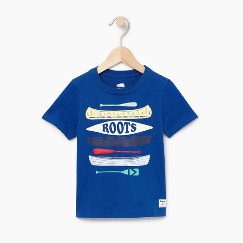 Roots-Kids Tops-Toddler Aop Glow In The Dark T-shirt-Active Blue-A