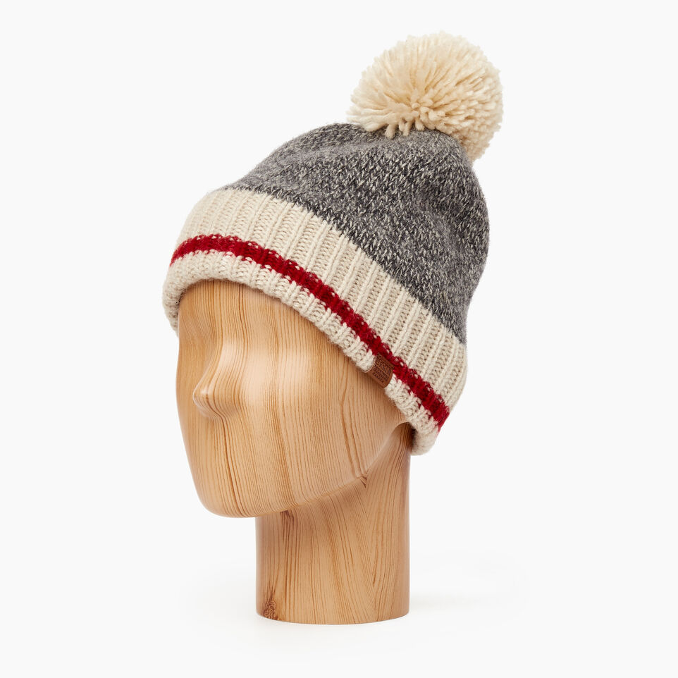 Roots-Women Categories-Roots Cabin Pom Pom Toque-Grey Oat Mix-B