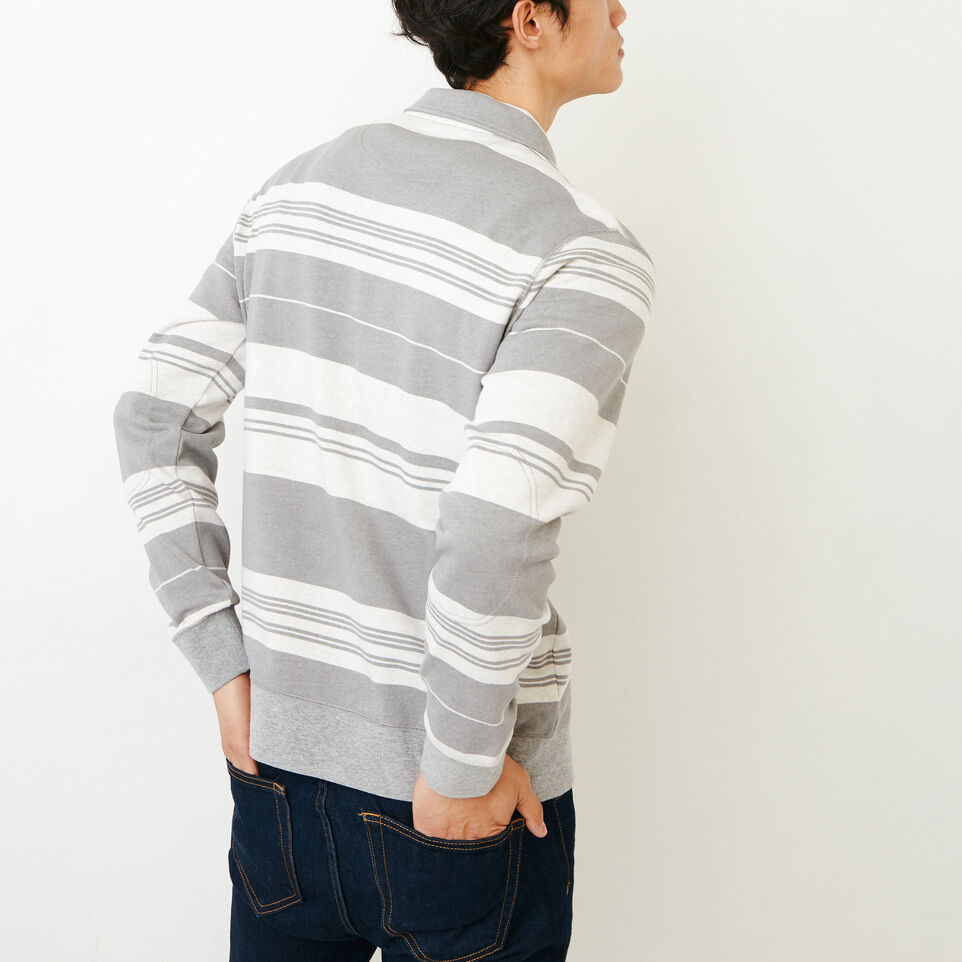 Roots-undefined-Rugby Stripe Zip Polo-undefined-C