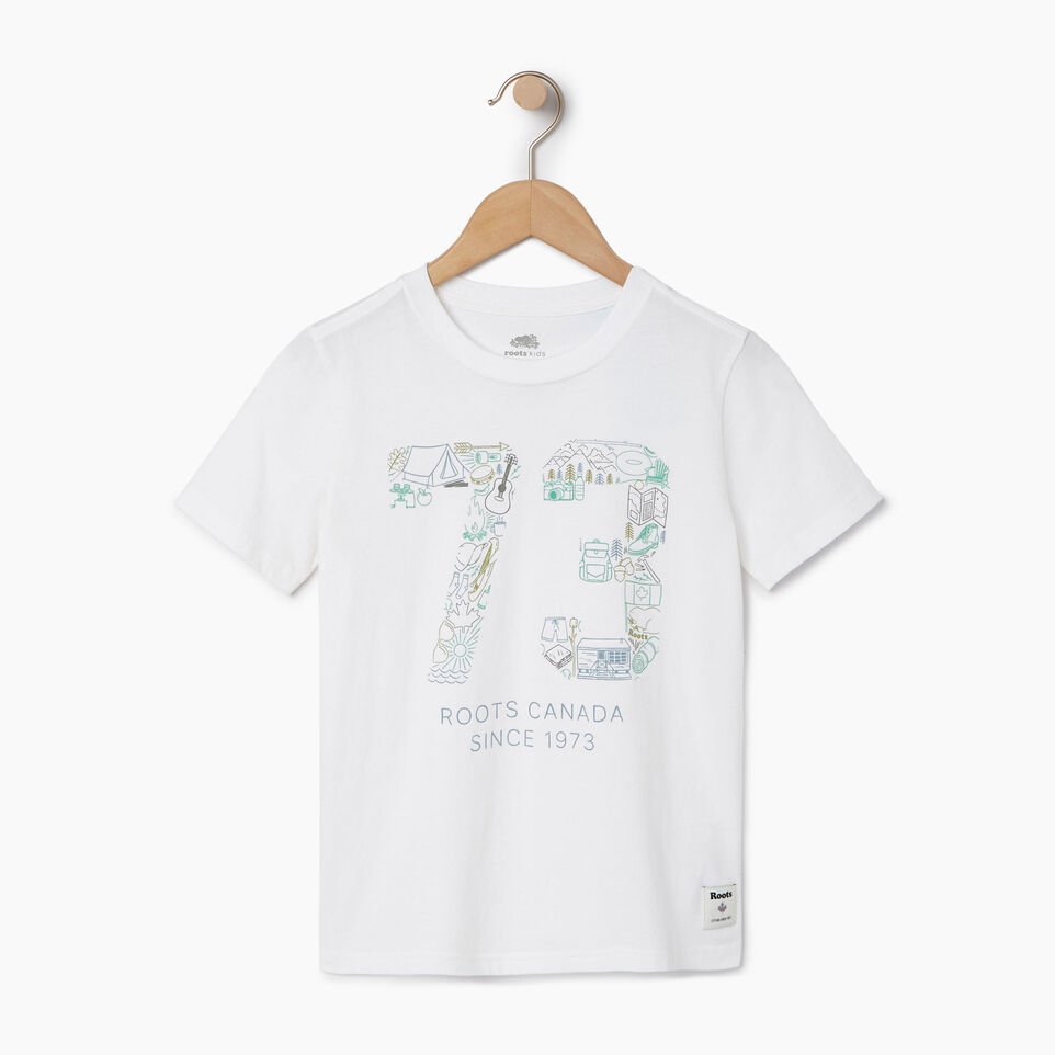 Roots-Kids Our Favourite New Arrivals-Boys Roots Paddle T-shirt-Ivory-A