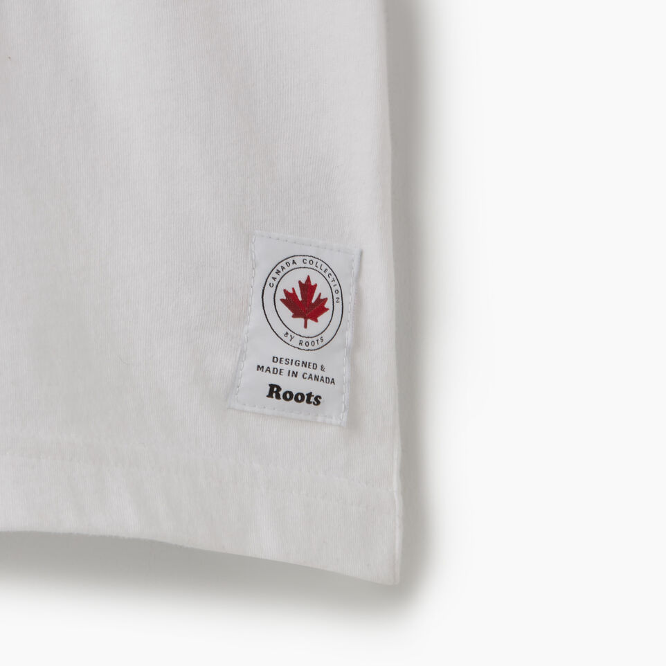 Roots-New For July Men-Mens Cooper Canada T-shirt-White-D