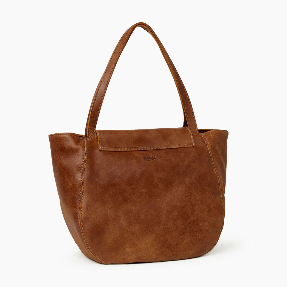 Roots-Leather Our Favourite New Arrivals-Lambert Tote-Natural-C