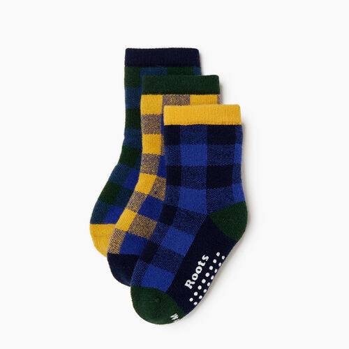 Roots-Kids Our Favourite New Arrivals-Toddler Plaid Sock 3 Pack-Blue-A