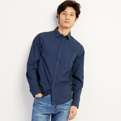 Roots-Sale Tops-Hemlock Poplin Shirt-Cascade Blue-A