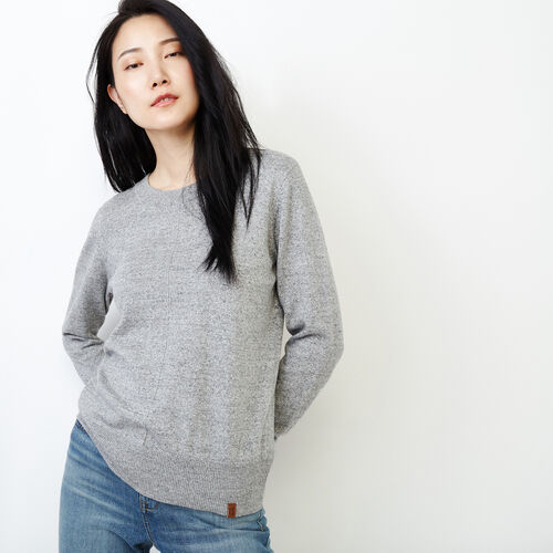 Roots-Women Sweaters & Cardigans-All Seasons Crew Sweater-Grey Mix-A