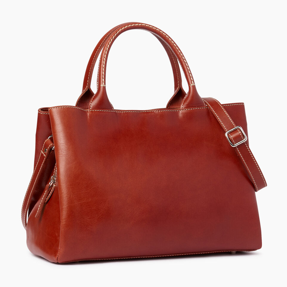 Roots-Leather  Handcrafted By Us Our Favourite New Arrivals-Mont Royal Bag Horween-Cognac-A