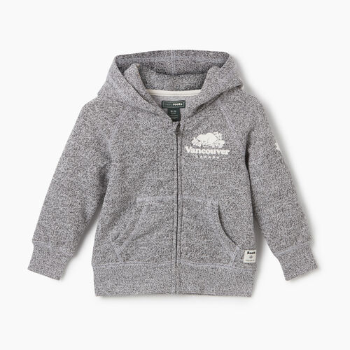 Roots-New For May City Collection-Baby Boy Vancouver Ski City Full Zip Hoody-Salt & Pepper-A