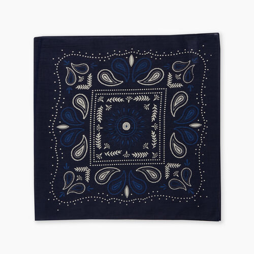 Roots-Women Scarves & Wraps-Bandana Scarf-Navy-A