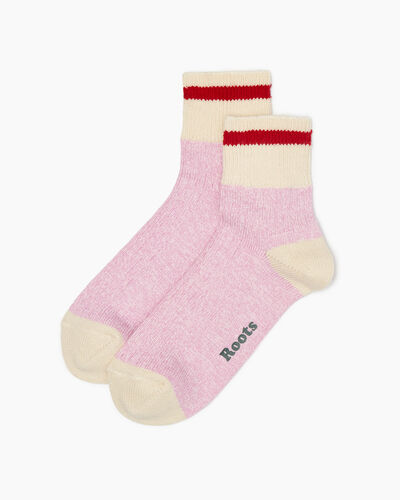 Roots-Women Socks-Womens Cotton Cabin Ankle Sock 2 Pack-Lilac Chiffon-A