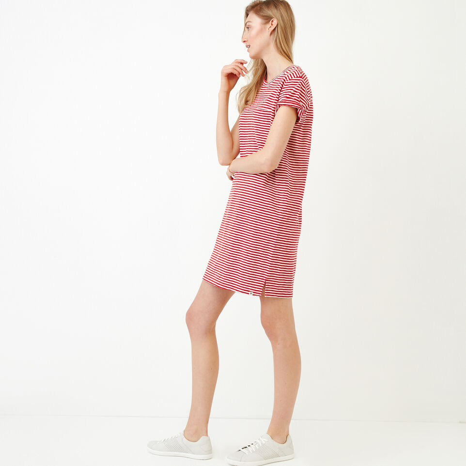 Roots-Women Our Favourite New Arrivals-Madeira Pocket Dress-Sage Red-C