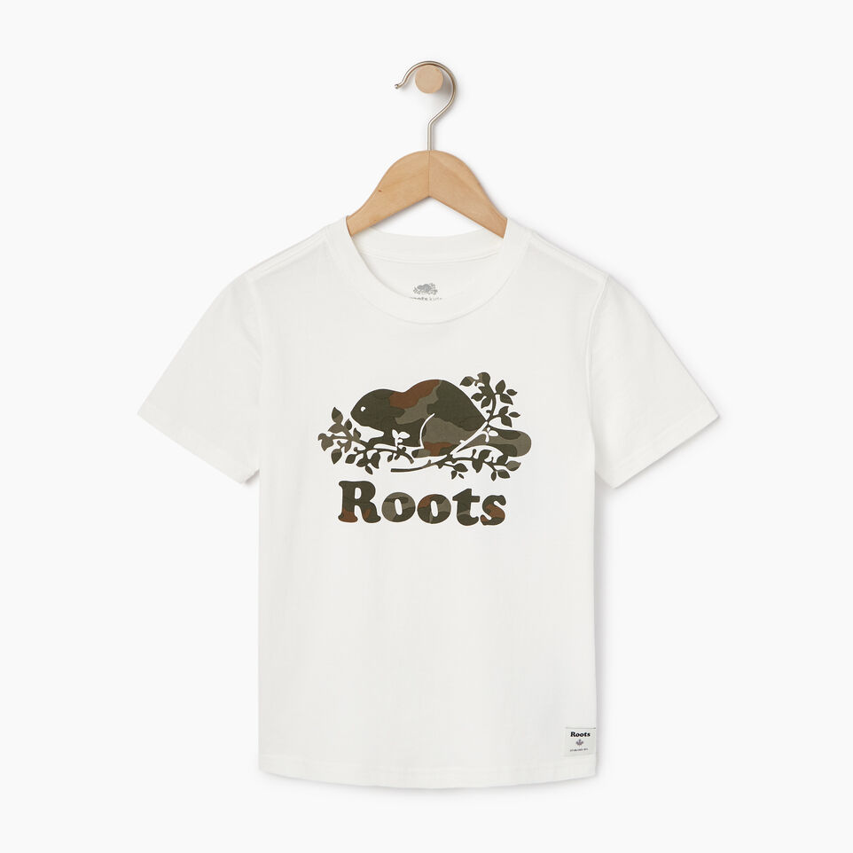 Roots-Kids New Arrivals-Boys Camo Knockout T-shirt-Ivory-A