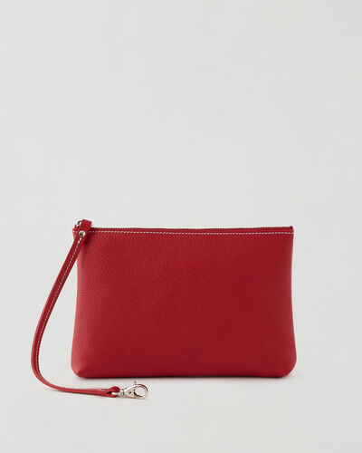 Roots-Leather New Arrivals-Large Wristlet Cervino-Lipstick Red-A