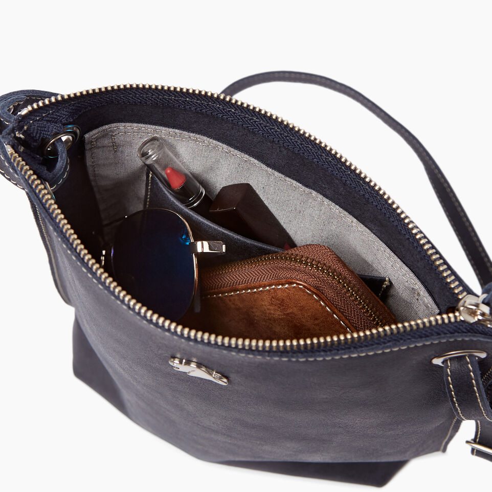 Roots-Leather  Handcrafted By Us Handbags-Festival Bag Tribe-Dark Navy-E